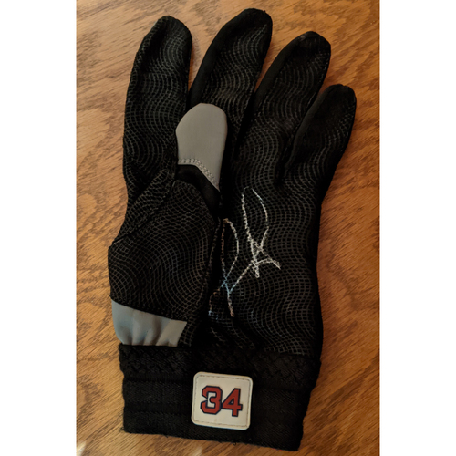 David Ortiz Autographed Game Used Left Hand Batting Glove