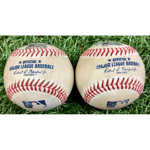 Photo of Game Used Baseball Package: Manuel Margot and Austin Meadows - September 10, 2020 v BOS