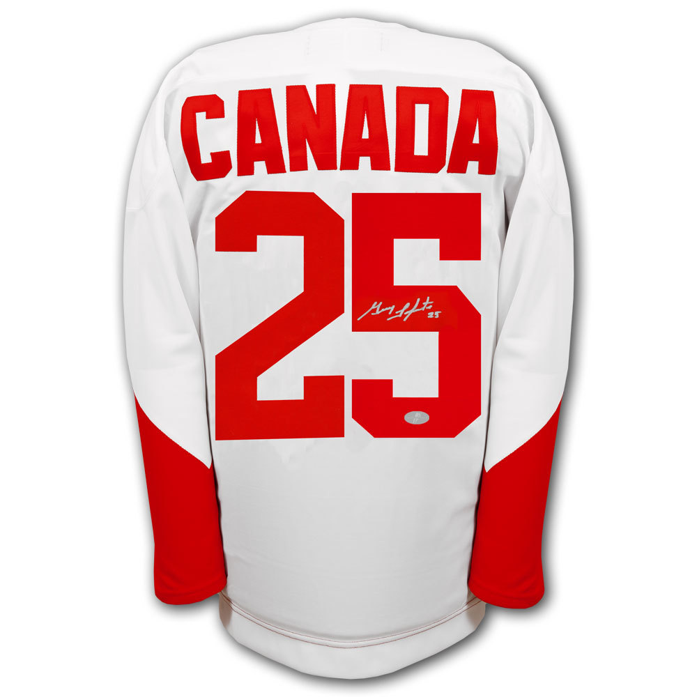 Guy Lapointe Team Canada 1972 Summit Series Autographed Jersey