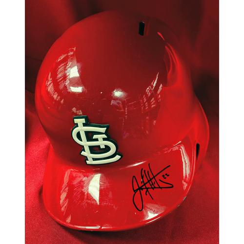 Jack Flaherty Autographed Team Issued Red 2019 Postseason Batting Helmet