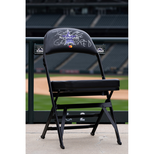 Photo of 2021 Celebrity Softball Game Autographed On Field Chair - Jorge Masvidal