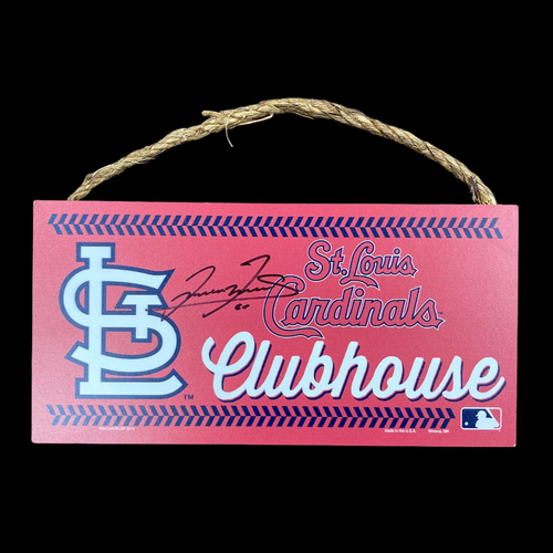 Photo of Giovanny Gallegos Autographed Mini Clubhouse Sign