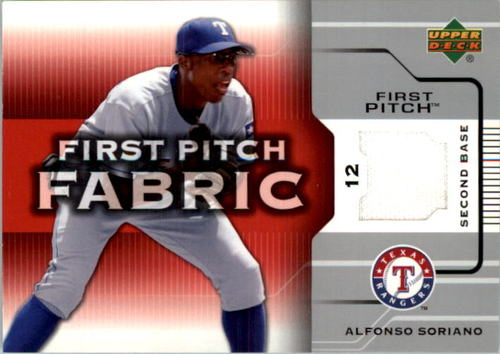 Photo of 2005 Upper Deck First Pitch Fabric #AS Alfonso Soriano Jsy