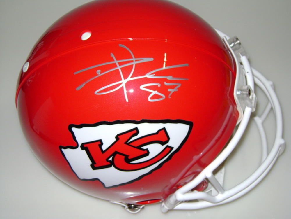 CHIEFS - TRAVIS KELCE SIGNED CHIEFS PROLINE HELMET