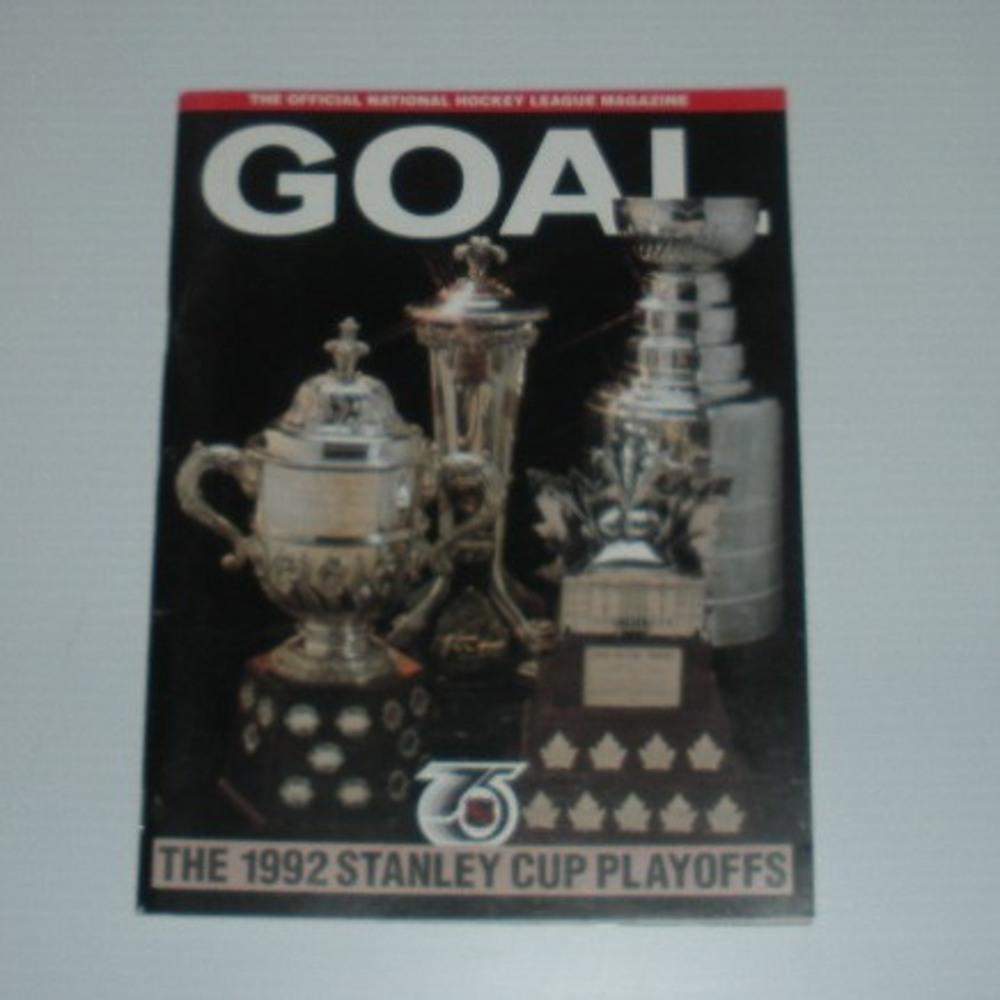 1992 Stanley Cup Finals Program -  Pittsburgh Penguins at Chicago Blackhawks, Blackhawks Edition including GOAL Magazine, Volume XIX, Issue 14
