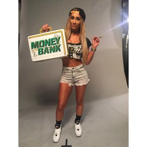 SIGNED WWE Women's Money in the Bank Replica Briefcase (Tamina Snuka, Charlotte Flair, Natalya, Becky Lynch, Carmella)