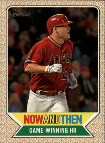 Photo of 2017 Topps Heritage Now and Then #NT5 Mike Trout