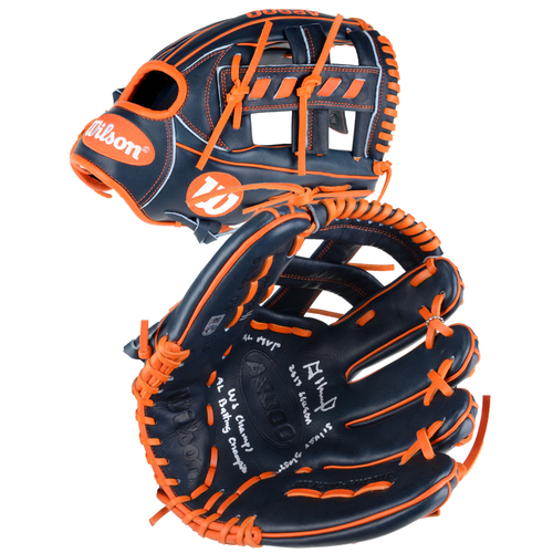 Photo of Jose Altuve Houston Astros Autographed Wilson Game Model Glove with Multiple Inscriptions - Limited Edition 1 of 1