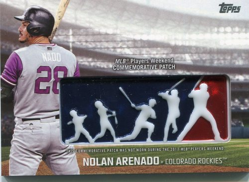 Photo of 2018 Topps Players Weekend Patches #PWPNA Nolan Arenado
