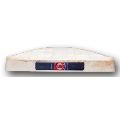 Photo of Game-Used Base -- Cubs 2018 Season -- Games Played at Wrigley Field
