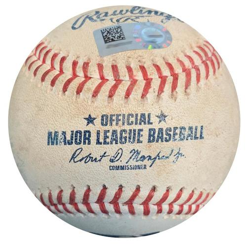 Photo of Game-Used Baseball from Pirates vs. Phillies on 7/7/18 - Hoskins Fly Out, Herrera Single, Santana Grounds into Force Out