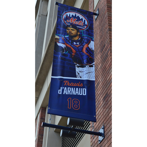 Photo of Travis d'Arnaud #18 - Citi Field Banner - 2018 Season