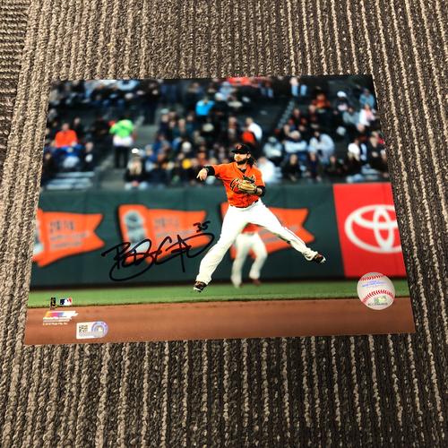 Photo of Autographed 8 x 10 Photo - #35 Brandon Crawford (Fielding)