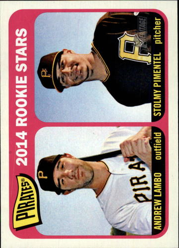 Photo of 2014 Topps Heritage #143 Andrew Lambo RC/Stolmy Pimentel RC