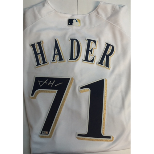 Photo of Josh Hader Autographed Authentic Brewers Jersey