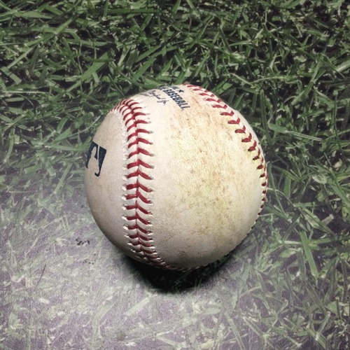 Photo of Game-Used Baseball LAD@MIL 04/20/19 - Chase Anderson - Joc Pederson: Single