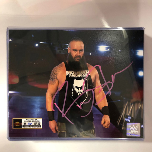 Photo of Braun Strowman SIGNED WrestleMania 35 Superstore Exclusive Photo (Random Number)