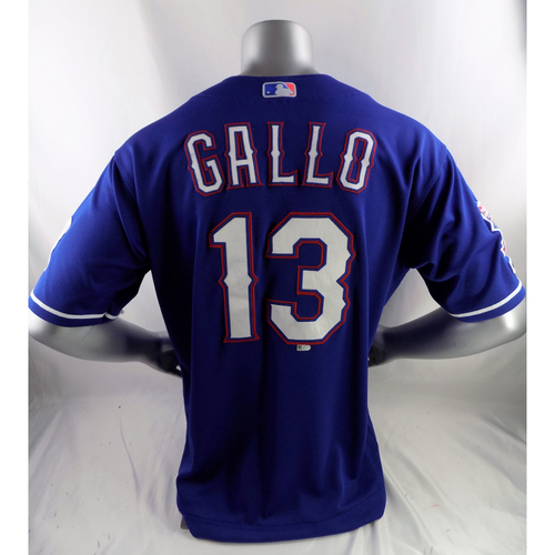 Game-Used Home Run Blue Jersey - Joey Gallo - 5/21/19, 6/1/19