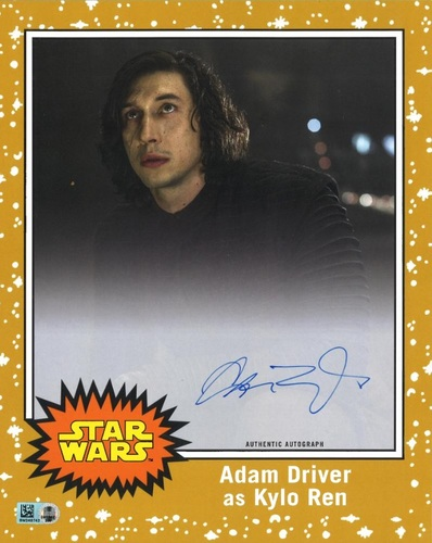 Adam Driver # to 5 Gold Autographed Oversized Trading Card