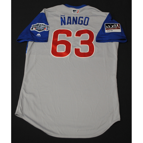 "Photo of 2019 Little League Classic - Game Used Jersey - Juan ""Nango"" Cabreja,  Chicago Cubs at Pittsburgh Pirates - 8/18/2019 (Size - 44)"