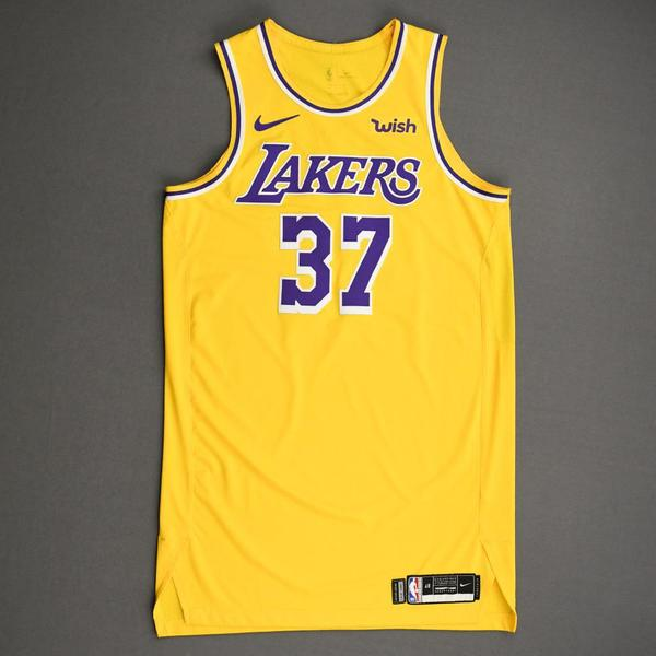 Image of Kostas Antetokounmpo - Los Angeles Lakers - NBA China Games - Game-Worn Icon Edition Jersey - 2019-20 NBA Season