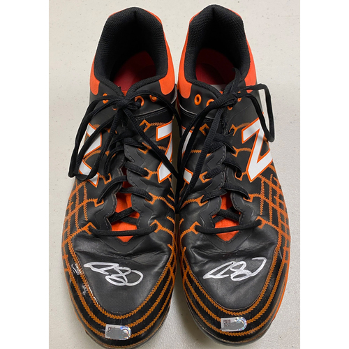 Photo of Team Issued Autographed Cleats signed by #13 Austin Slater - Size 12