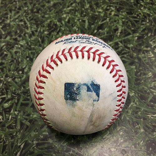 Photo of Game-Used Baseball DET@MIL 06/01/21 - Eric Lauer - Eric Haase: Solo Homerun (4)