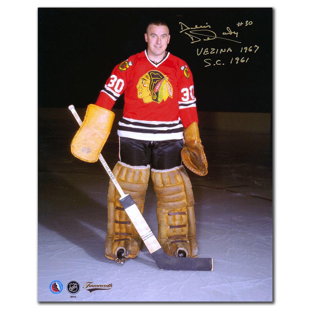 Denis DeJordy Chicago Blackhawks POSE Autographed 8x10