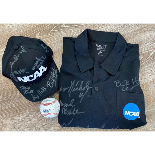 Photo of UMPS CARE AUCTION: Crew-Signed Baseball, Ball Cap, and Umpire Jersey from NCAA Division II Baseball Championship