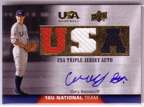 Photo of 2009-10 USA Baseball 16U National Team Jersey Autographs #CG Cory Geisler