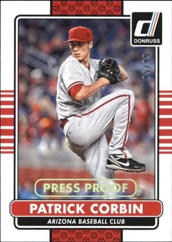 Photo of 2015 Donruss Press Proofs Gold #48 Patrick Corbin