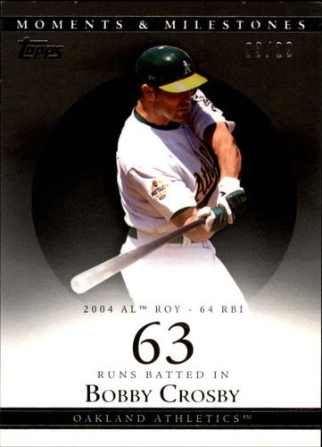 Photo of 2007 Topps Moments and Milestones Black #88-63 Bobby Crosby/RBI 63