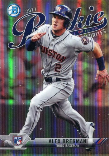 Photo of 2017 Bowman Chrome Rookie of the Year Favorites Refractors #ROYF3 Alex Bregman