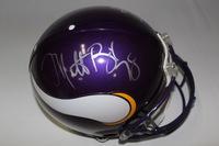 NFL - VIKINGS 2005 PRO BOWL PLAYERS DAUNTE CULPEPPER AND MATT BIRK SIGNED VIKINGS PROLINE HELMET