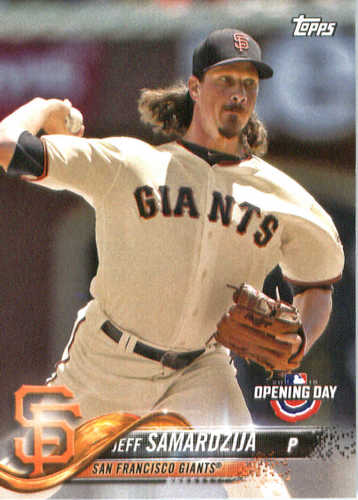 Photo of 2018 Topps Opening Day #89 Jeff Samardzija