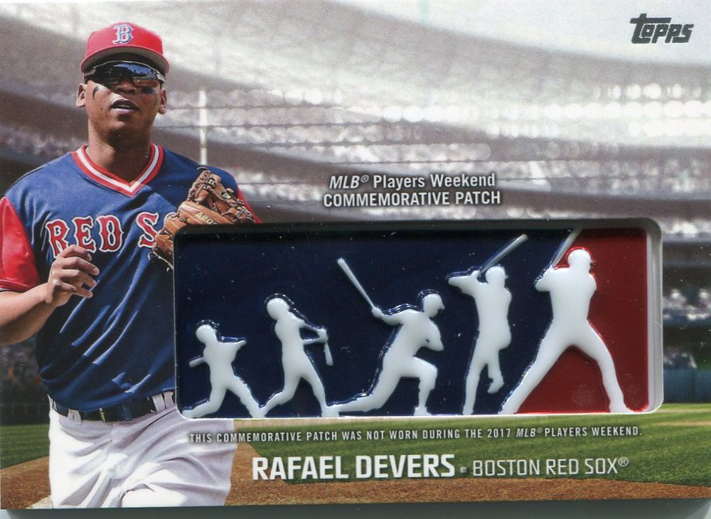 2018 Topps Players Weekend Patches #PWPRD Rafael Devers