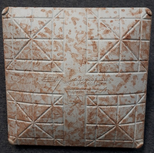 Photo of Authenticated Game Used Base: 2nd Base for Innings 1 to 3 (April 24-26, 2018 vs Boston). In Place for Marco Estrada's 1000th Career Strikeout.