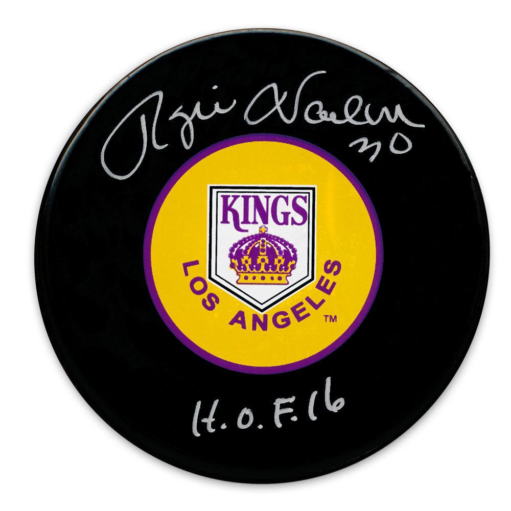 Rogie Vachon Los Angeles Kings HOF Autographed Puck