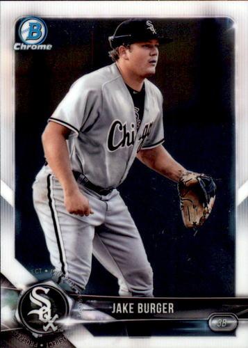 Photo of 2018 Bowman Chrome Prospects #BCP37 Jake Burger