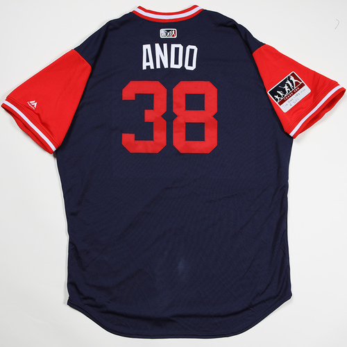 "Photo of Justin ""Ando"" Anderson Los Angeles Angels Game-Used 2018 Players' Weekend Jersey"