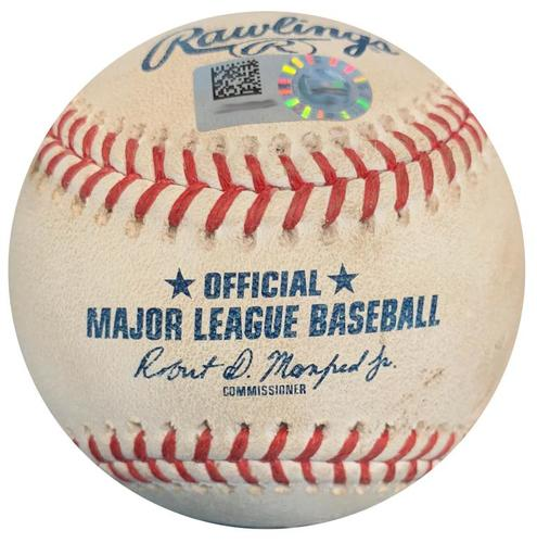 Photo of Game-Used Baseball from Pirates vs. Phillies on 7/7/18 - Felipe Vazquez Strikeout Pitch