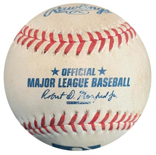 Photo of Game-Used Baseball from Pirates vs. Marlins on 5/27/15 - Dee Gordon Single
