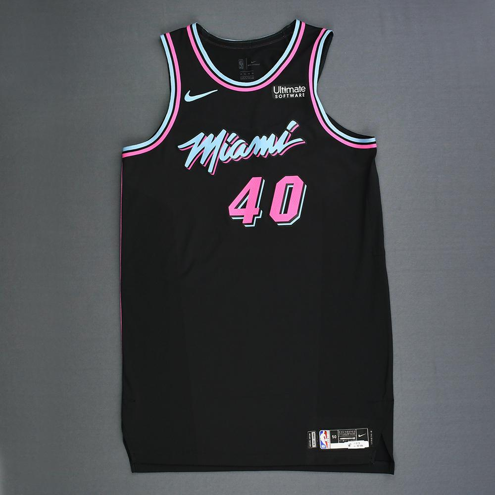 hot sale online 5a36d bfe63 Udonis Haslem - Miami Heat - Game-Worn City Edition Jersey ...
