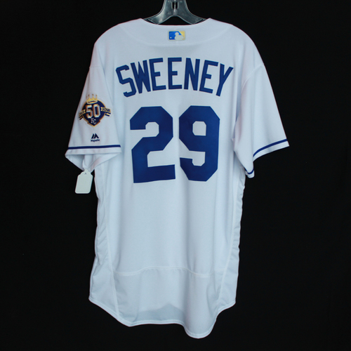 Photo of Team-Issued 50 Seasons Jersey: Mike Sweeney (Size - 46)