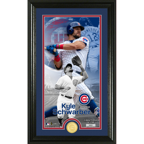 Photo of Kyle Schwarber Supreme Bronze Coin Photo Mint