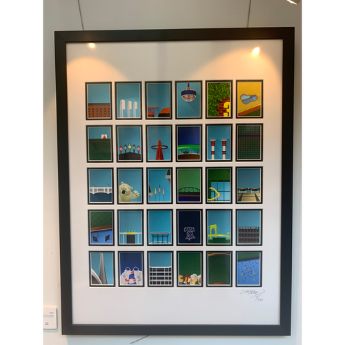 Photo of Framed Minimalist MLB Stadiums Collectors Edition by S. Preston Limited Edition of  179/350