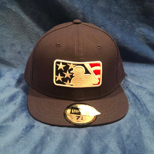Photo of UMPS CARE AUCTION: MLB Specialty Stars and Stripes Umpire Plate Cap, Navy, Size 7 1/4