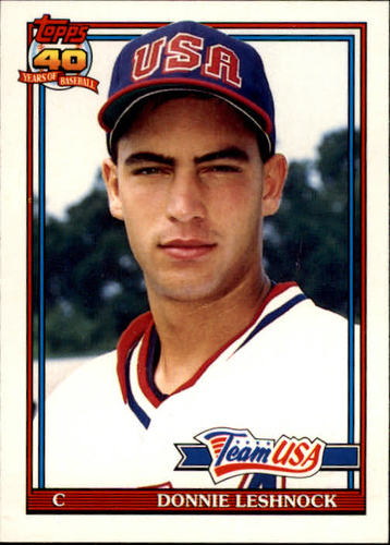 Photo of 1991 Topps Traded #72T Donnie Leshnock USA RC