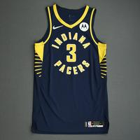 Aaron Holiday - Indiana Pacers - Game-Worn Icon Edition Jersey - NBA India Games - 2019-20 NBA Season