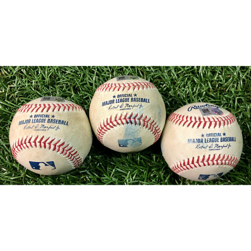 Photo of Game Used Baseball Package: Cavan Biggio, Travis Shaw and Reese McGuire - August 22, 2020 v TOR